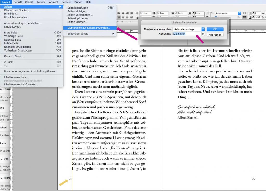 Musterseite-InDesign